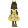 Boneca de Pano Negra Nina com Roupa tema Abelinha