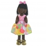 Boneca de Pano Negra Nina com Roupa tema Coelhos Ovos de Pascoa