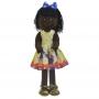 Boneca de Pano Negra Nina com Roupa tema Galinha Pintadinha