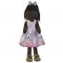 Boneca de Pano Negra Nina com Roupa tema Gatinha Marie