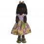 Boneca de Pano Negra Nina com Roupa tema Masha e o Urso