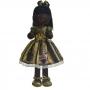 Boneca de Pano Nina com Roupa tema Lol Queen Bee abelhinha - Negra