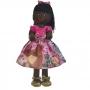 Boneca de Pano Nina com Roupa tema Masha e o Urso Rosa - Negra
