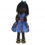 Boneca de Pano Nina com Roupa tema Os Vingadores - Negra