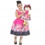 Tal Filha Tal Boneca Mari - Vestido Infantil Barbie Luxo