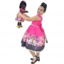 Tal Filha Tal Boneca Negra Nina - Vestido Infantil Barbie Luxo