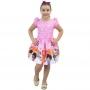Vestido 3 Palavrinhas Rosa