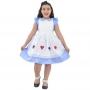 Vestido Alice País das Maravilhas Com Naipes Bordado no Avental