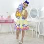 Vestido Amarelo e Pelúcia da Galinha Pintadinha