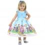 Vestido CoComelon Luxuoso p/ meninas e bebês de 1 a 10 anos