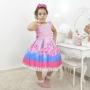 Vestido de Festa Infantil Slime luxuoso