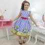 Vestido festa Infantil Show da Luna