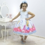 Vestido festa infantil tema Alice no País das Maravilhas luxuoso