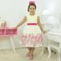 Vestido festa infantil tema da Baby Alive
