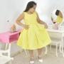 Vestido infantil Amarelo Formatura - Bebê 6 Meses a 10 anos