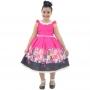 Vestido Infantil Barbie Luxo Rosa