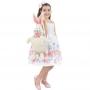 Vestido Infantil de Pascoa Acompanha Bolsa Coelho