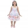 Vestido Infantil de Pascoa com Coelhos - Furta-Cor
