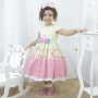 Vestido infantil festa da chuva e as corujas encantadas
