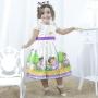 Vestido infantil festa da Dora Aventureira