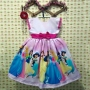 Vestido infantil festa tema princesas da disney