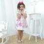 Vestido infantil festa unicórnios e estrelas - tubinho trapézio