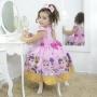 Vestido infantil mínis bonecas Lol surprise glitter confetti