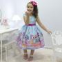 Vestido infantil tema Lol Sereia - Splash Queen