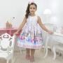 Vestido infantil tema Paris Torre Eiffel
