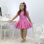 Vestido infantil tema Safari - Animais da floresta