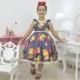 Vestido infantil temático Urso de Pelúcia com corações