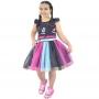 Vestido infantil Tik Tok Preto - TikTok
