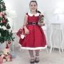 Vestido Mamãe Noel Infantil, Bolsa Vermelha e Arvore de Montar