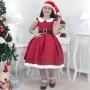 Vestido Mamãe Noel Infantil Com Gorro Vermelho