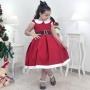 Vestido Mamãe Noel Infantil - Menina