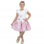 Vestido Menina Bebê Ursinha Rosa