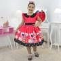Vestido Minnie Vermelha Luxuoso