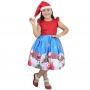 Vestido Papai Noel Com Gorro Infantil