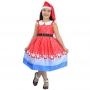 Vestido Papai Noel Infantil Com Gorro Vermelho