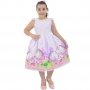 Vestido Unicórnio Rosa Para Crianças de 6 meses até 10 anos