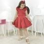 Vestido Vermelho Rubi Infantil