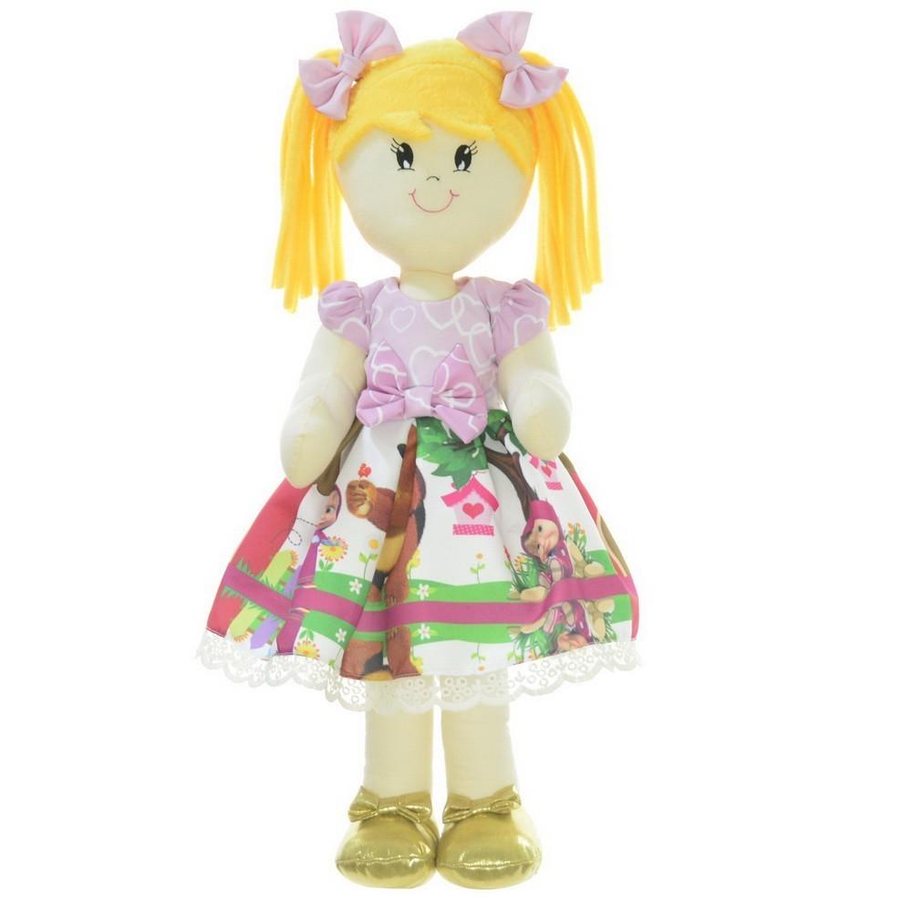 Boneca de Pano Helo com Roupa no tema Masha e o Urso