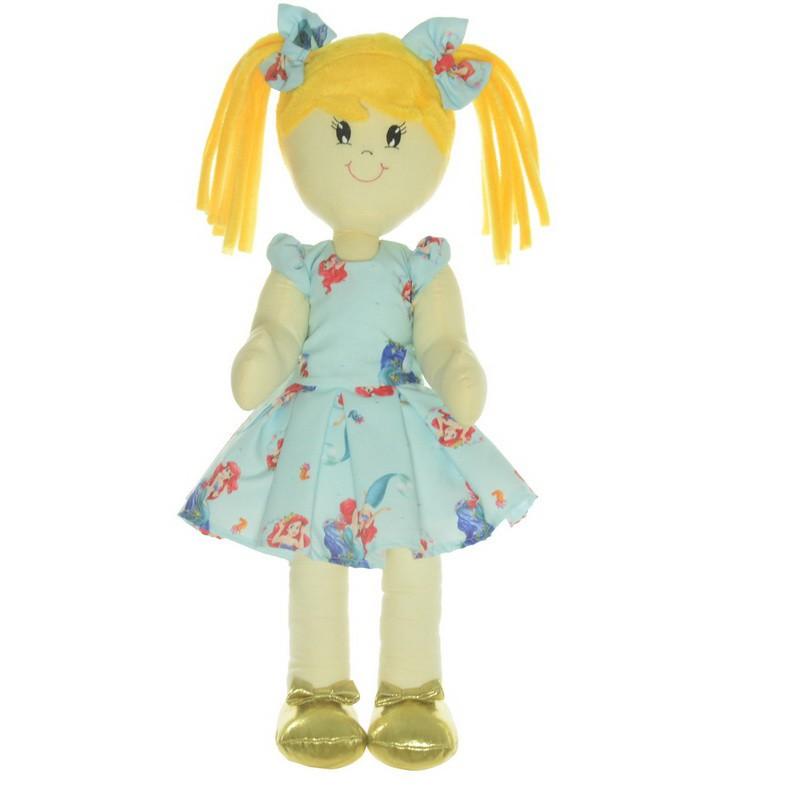 Boneca de Pano Helo com Roupa no tema pequena sereia Ariel