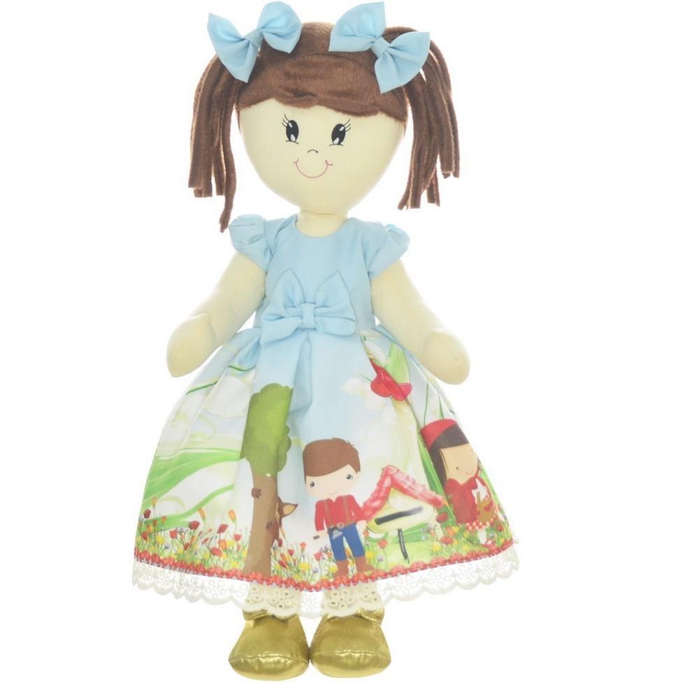 Boneca de Pano Mari com Roupa tema Chapeuzinho Vermelho