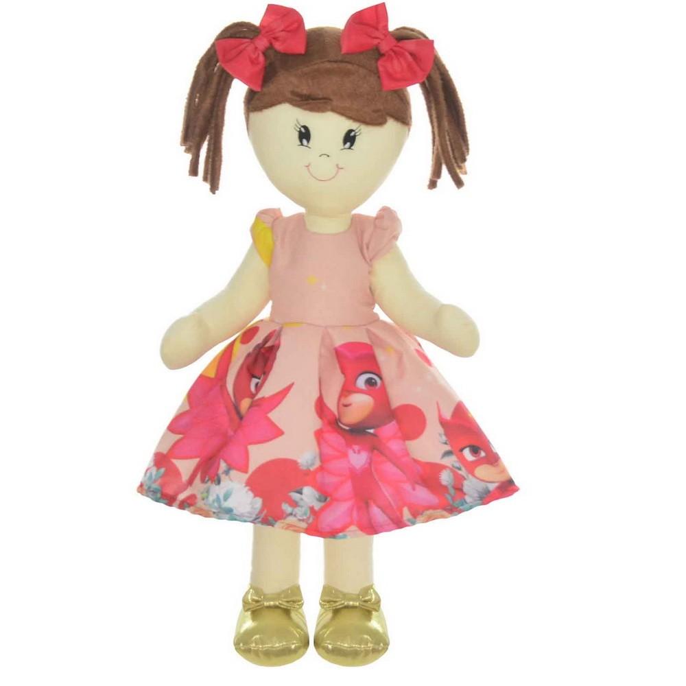Boneca de Pano Mari com Roupa tema Corujita Amaya - PJ Masks
