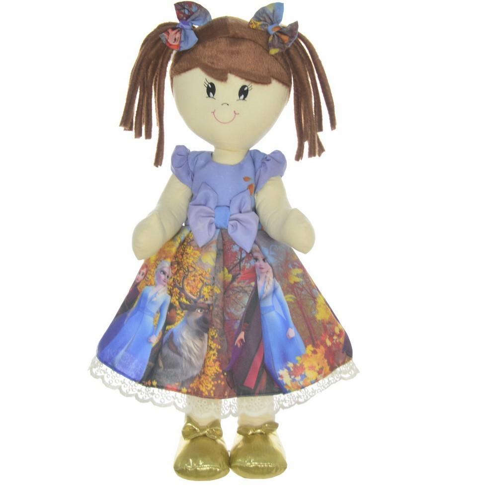 Boneca de Pano Mari com Roupa tema Frozen 2 - Elsa e Anna