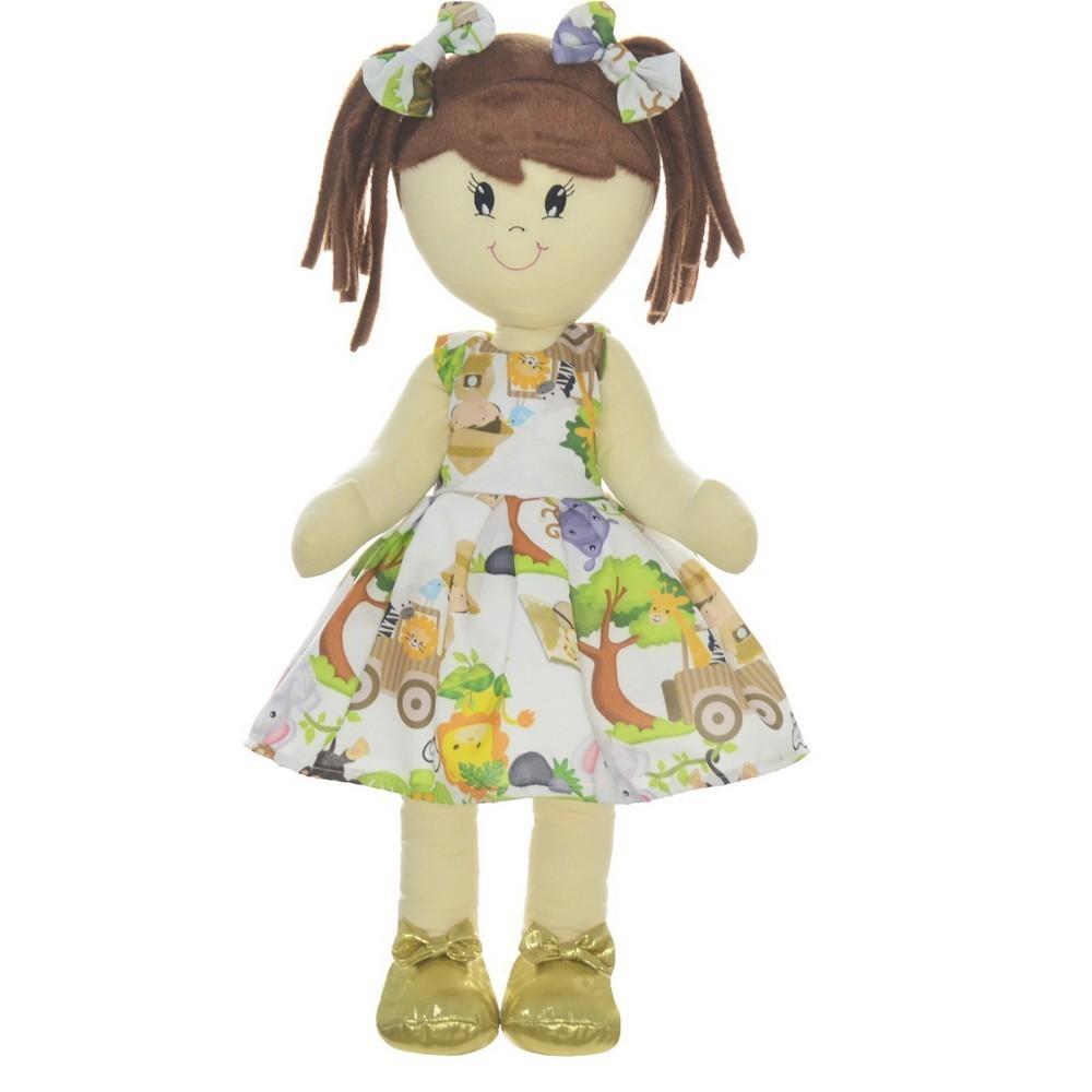Boneca de Pano Mari com Roupa tema Safari