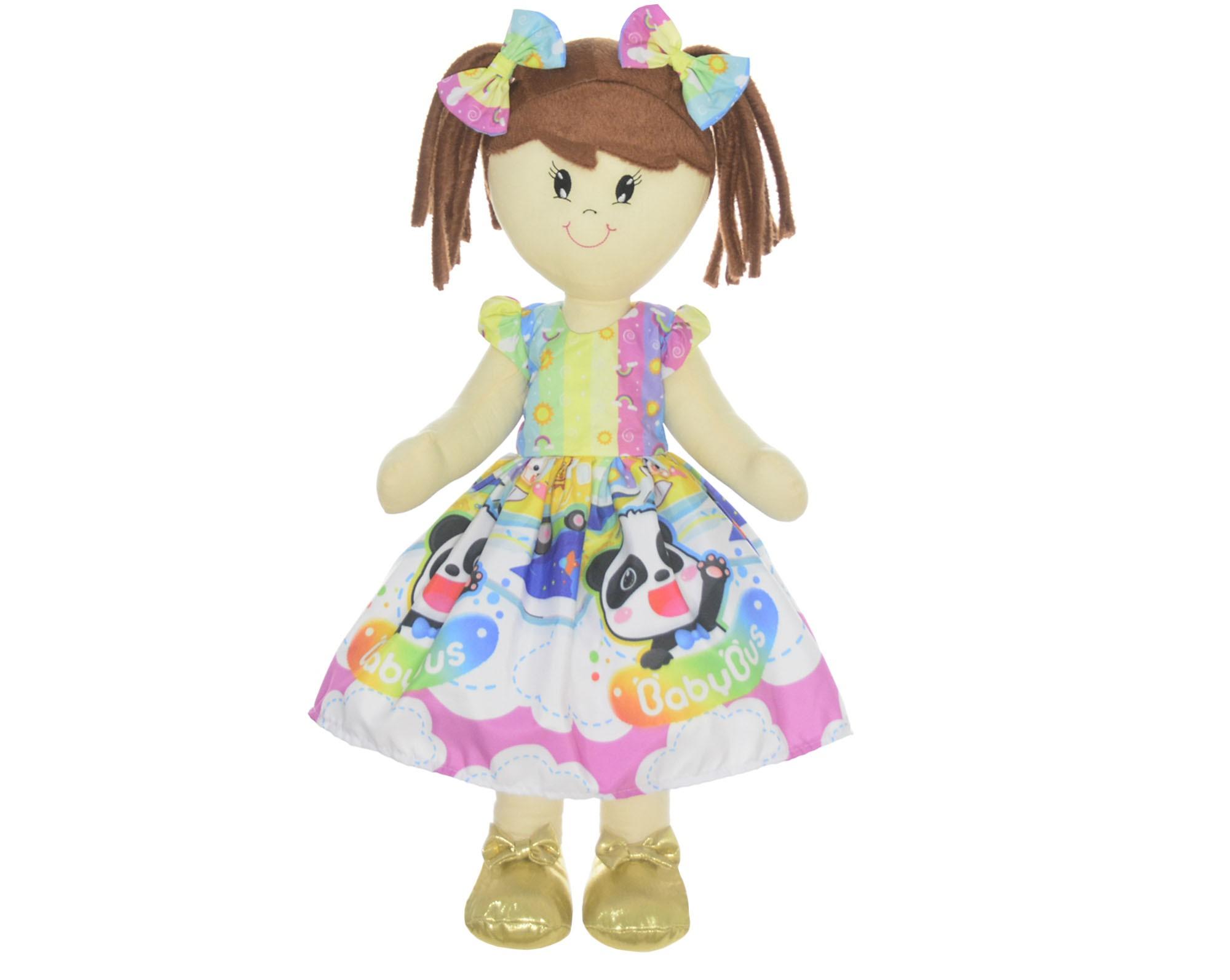 Boneca de Pano Mari com Roupa tema Ursinhos Carinhosos