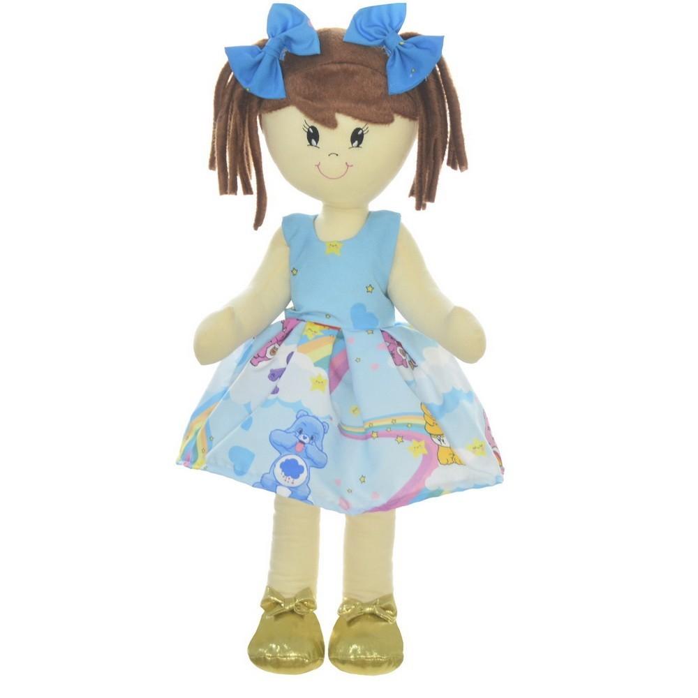 Boneca de Pano Mari com Roupa tema Ursinhos Carinhosos nas Nuvens