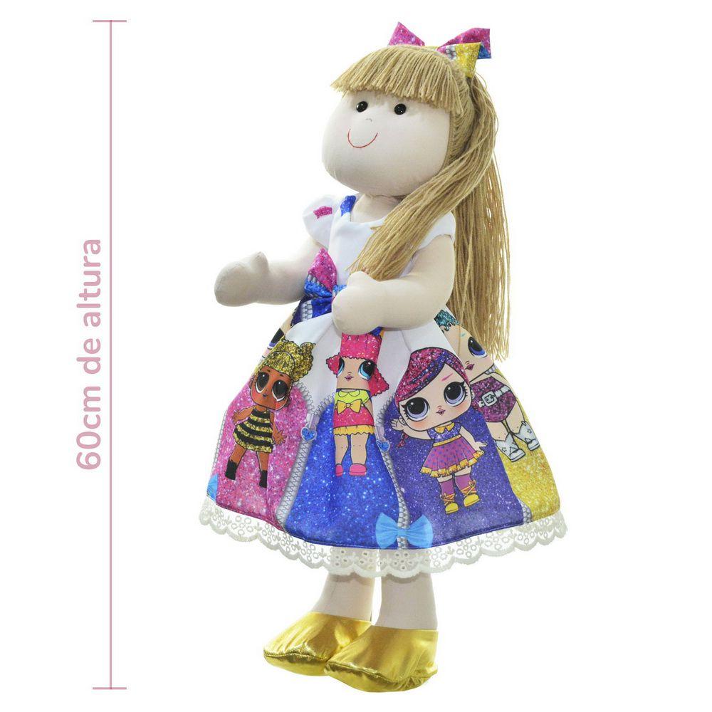 Boneca de Pano Pri com vestido no tema Lol Surprise Under Wraps